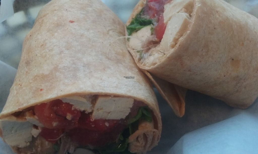 "Photo of Black Bean Co.  by <a href=""/members/profile/veggie_htx"">veggie_htx</a> <br/>Spinach Love wrap with tofu and a raspberry vinaigrette.  <br/> August 13, 2016  - <a href='/contact/abuse/image/26213/168380'>Report</a>"
