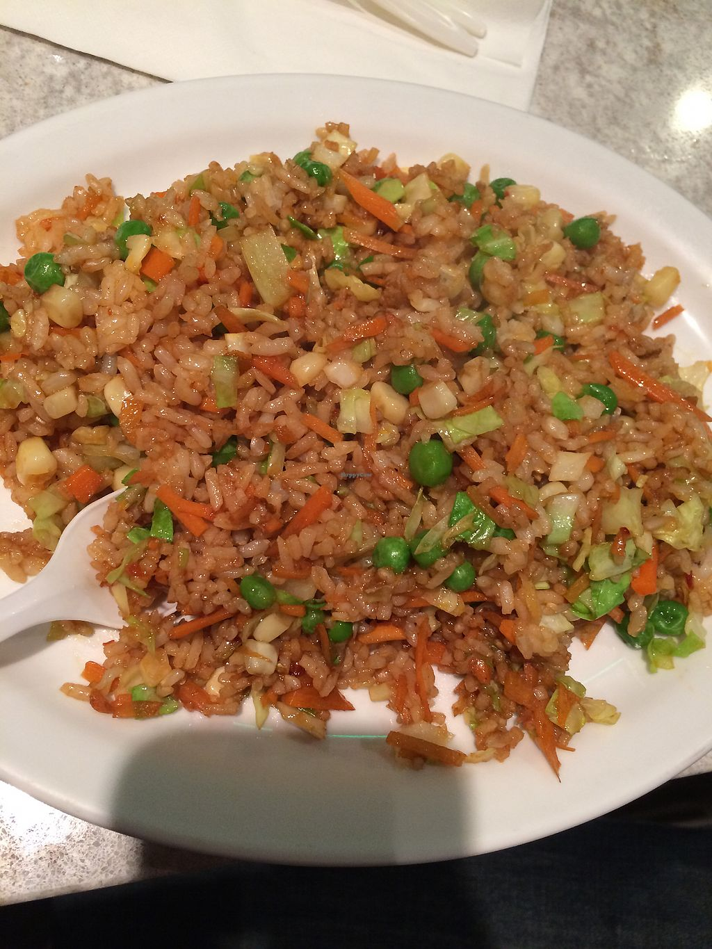 "Photo of Cafe Happy  by <a href=""/members/profile/Arti"">Arti</a> <br/>Vegan fried rice <br/> December 27, 2017  - <a href='/contact/abuse/image/2621/339452'>Report</a>"