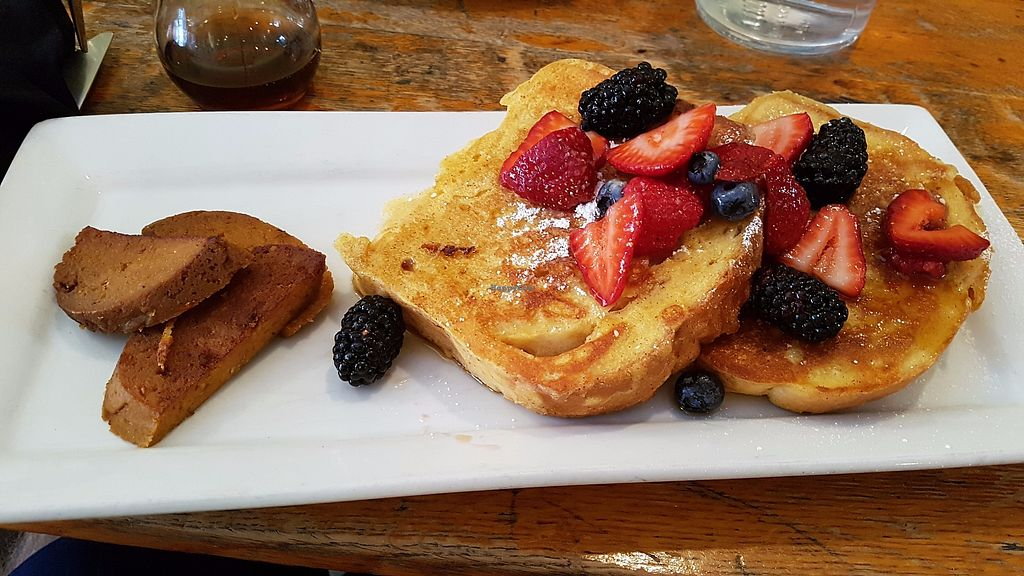 """Photo of Rise Above Restaurant and Bakery  by <a href=""""/members/profile/JonJon"""">JonJon</a> <br/>French breakfast and sausage <br/> July 28, 2017  - <a href='/contact/abuse/image/26245/285840'>Report</a>"""