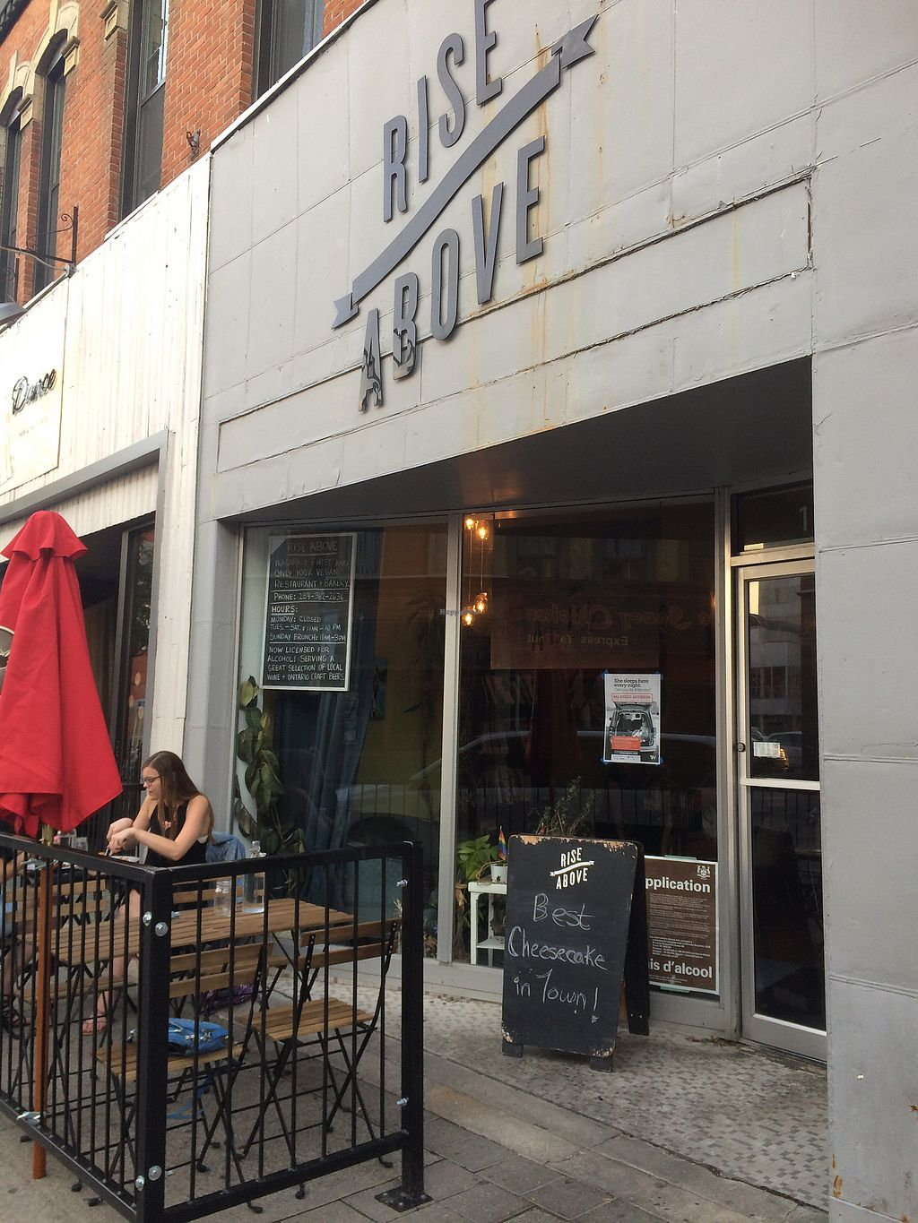"""Photo of Rise Above Restaurant and Bakery  by <a href=""""/members/profile/fruitiJulie"""">fruitiJulie</a> <br/>Outside tables in summer  <br/> August 1, 2017  - <a href='/contact/abuse/image/26245/287828'>Report</a>"""