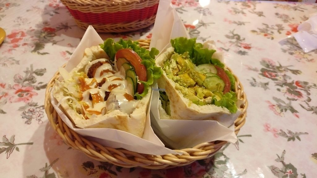"""Photo of Falafel Garden  by <a href=""""/members/profile/JohnnieMeijer"""">JohnnieMeijer</a> <br/>falafel (left) and avocado (right)  <br/> April 27, 2017  - <a href='/contact/abuse/image/26257/253079'>Report</a>"""
