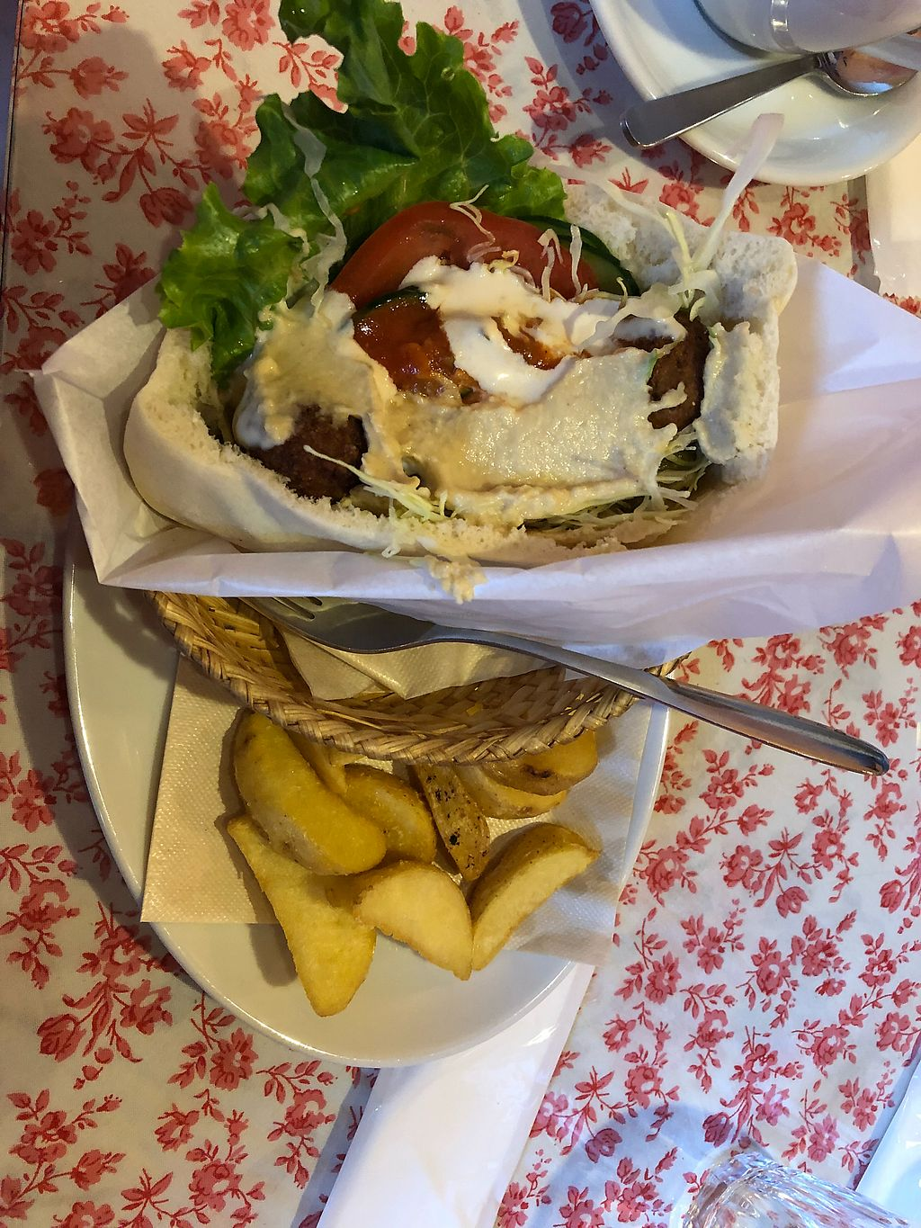 """Photo of Falafel Garden  by <a href=""""/members/profile/Adalim420"""">Adalim420</a> <br/>Vegan falafel set <br/> March 8, 2018  - <a href='/contact/abuse/image/26257/368120'>Report</a>"""