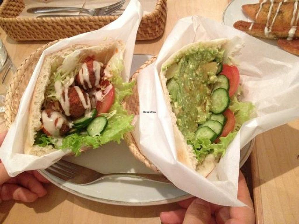 """Photo of Falafel Garden  by <a href=""""/members/profile/Ayane"""">Ayane</a> <br/>2 pita-choice (Falafel&Avocado) <br/> June 3, 2014  - <a href='/contact/abuse/image/26257/71273'>Report</a>"""