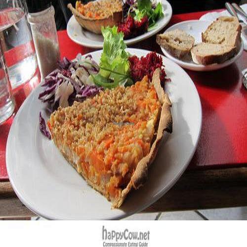 "Photo of Le Samovar Salon de Tisanes  by <a href=""/members/profile/Aurelia"">Aurelia</a> <br/>vegan tarte du jour with salad and bread: €4 and filling! <br/> April 7, 2011  - <a href='/contact/abuse/image/26260/8123'>Report</a>"