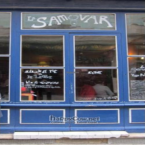 """Photo of Le Samovar Salon de Tisanes  by <a href=""""/members/profile/Aurelia"""">Aurelia</a> <br/>Bright blue and welcoming. Come on in! <br/> April 7, 2011  - <a href='/contact/abuse/image/26260/8130'>Report</a>"""