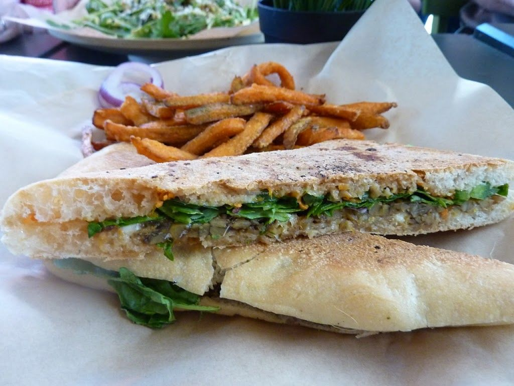 "Photo of Green Seed Vegan  by <a href=""/members/profile/MizzB"">MizzB</a> <br/>As good as it gets, Sumptuous Sweet potato fries with panini sandwich <br/> December 9, 2015  - <a href='/contact/abuse/image/26265/127707'>Report</a>"