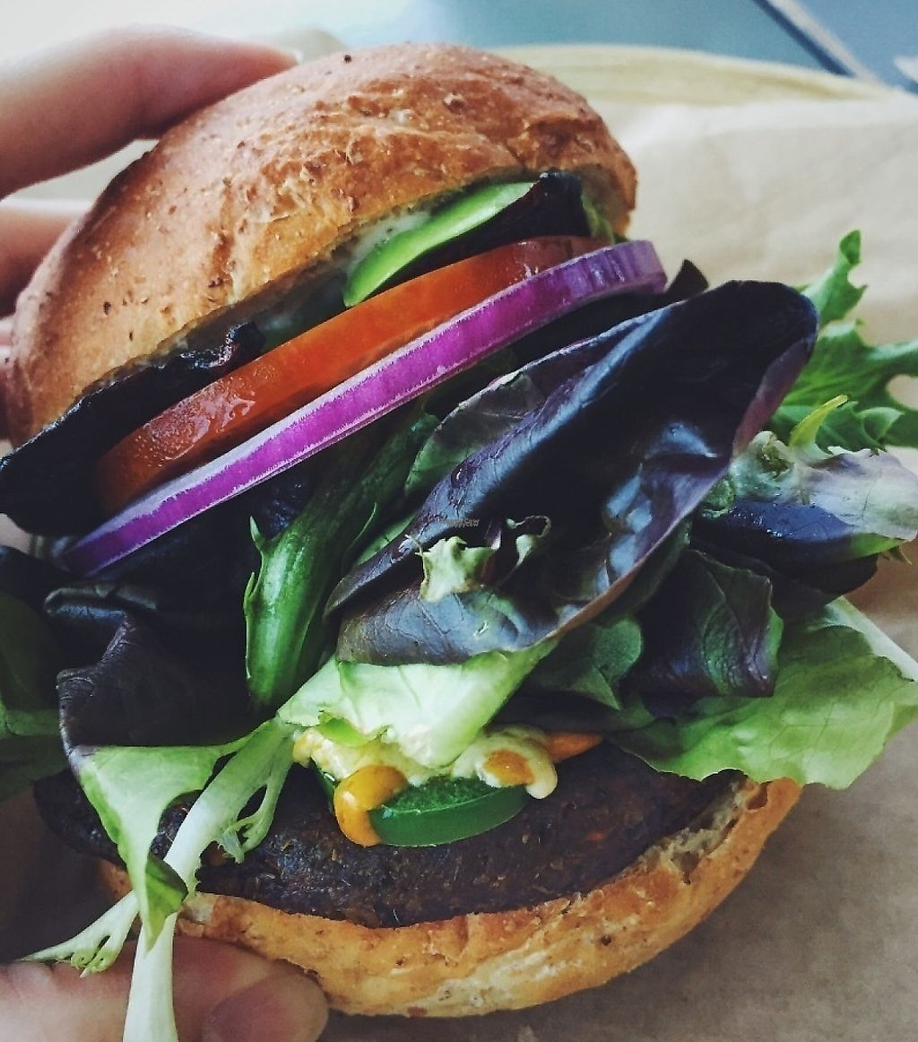 "Photo of Green Seed Vegan  by <a href=""/members/profile/PlantPrincesa"">PlantPrincesa</a> <br/>Burger <br/> December 30, 2016  - <a href='/contact/abuse/image/26265/228349'>Report</a>"