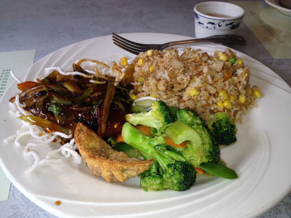 """Photo of Bamboo Garden Vegetarian Cuisine  by <a href=""""/members/profile/Veg4Jay"""">Veg4Jay</a> <br/>Lunch Combo D <br/> August 11, 2015  - <a href='/contact/abuse/image/2626/113206'>Report</a>"""