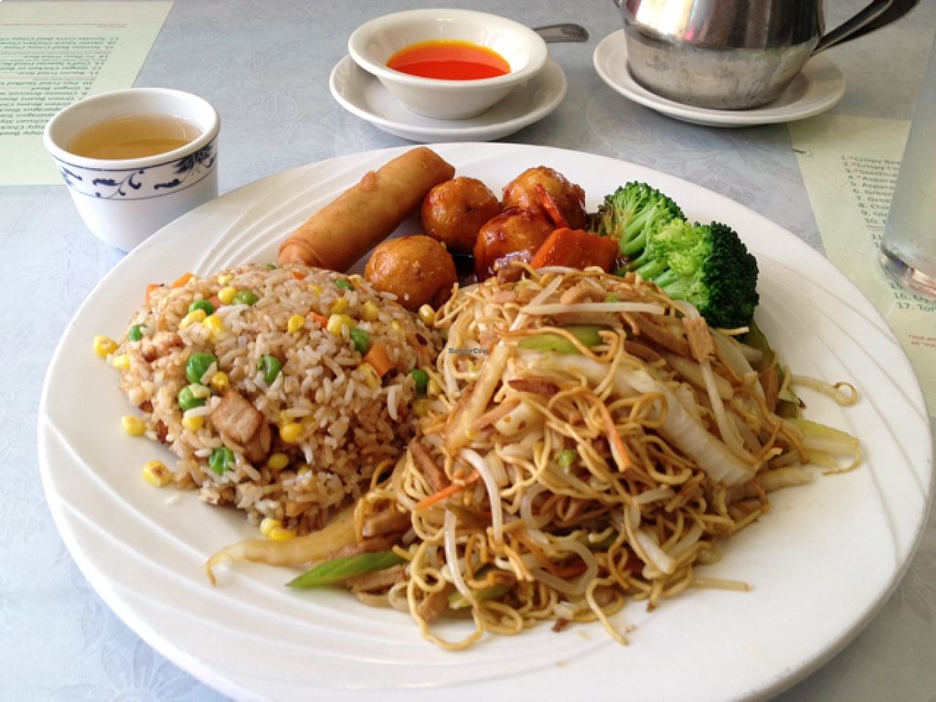 """Photo of Bamboo Garden Vegetarian Cuisine  by <a href=""""/members/profile/Veg4Jay"""">Veg4Jay</a> <br/>lunch Combo 'E' <br/> August 21, 2015  - <a href='/contact/abuse/image/2626/114579'>Report</a>"""