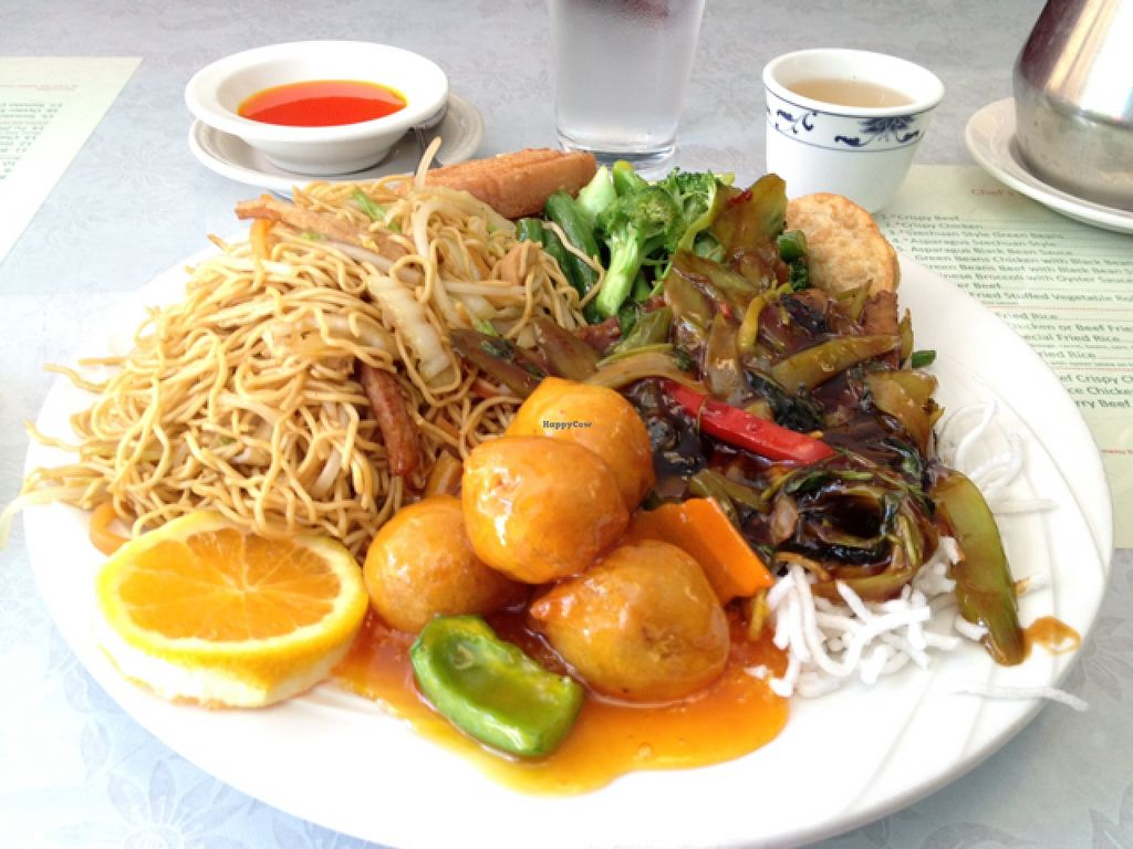 """Photo of Bamboo Garden Vegetarian Cuisine  by <a href=""""/members/profile/Veg4Jay"""">Veg4Jay</a> <br/>Combo C <br/> September 9, 2015  - <a href='/contact/abuse/image/2626/117119'>Report</a>"""