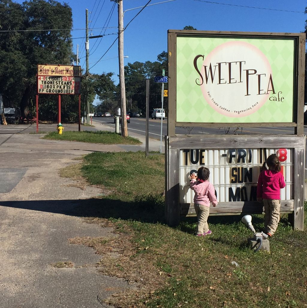 "Photo of Sweet Pea Cafe  by <a href=""/members/profile/Twee%20G"">Twee G</a> <br/>always choosing vegan over meat (see meat market sign in the background)  <br/> February 18, 2016  - <a href='/contact/abuse/image/26274/136826'>Report</a>"