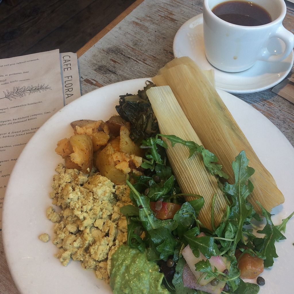 "Photo of Cafe Flora  by <a href=""/members/profile/the.fernweh.fox"">the.fernweh.fox</a> <br/>New Years Vegan Breakfast Buffet  <br/> April 18, 2018  - <a href='/contact/abuse/image/2628/387730'>Report</a>"