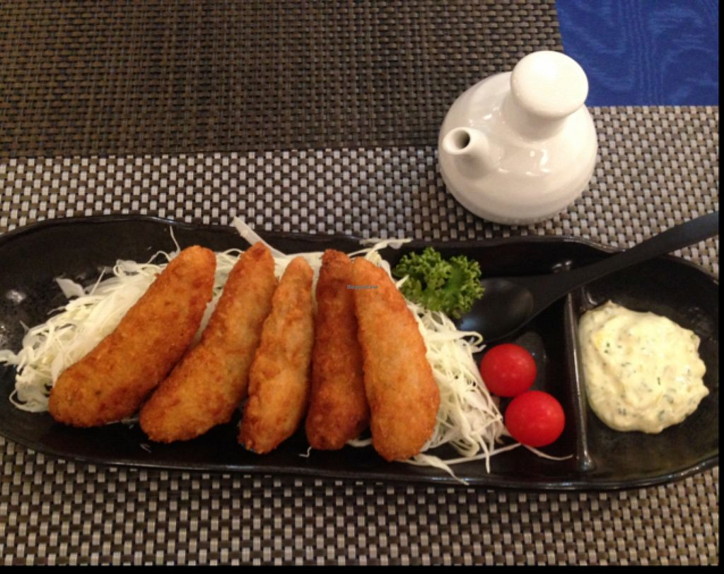 """Photo of ORIBIO Cafe Dining  by <a href=""""/members/profile/Teruru"""">Teruru</a> <br/>Yummy Soy Fries/Nugget served with Tartar and Original Saucesすっぴん単品 <br/> January 6, 2016  - <a href='/contact/abuse/image/26302/131339'>Report</a>"""