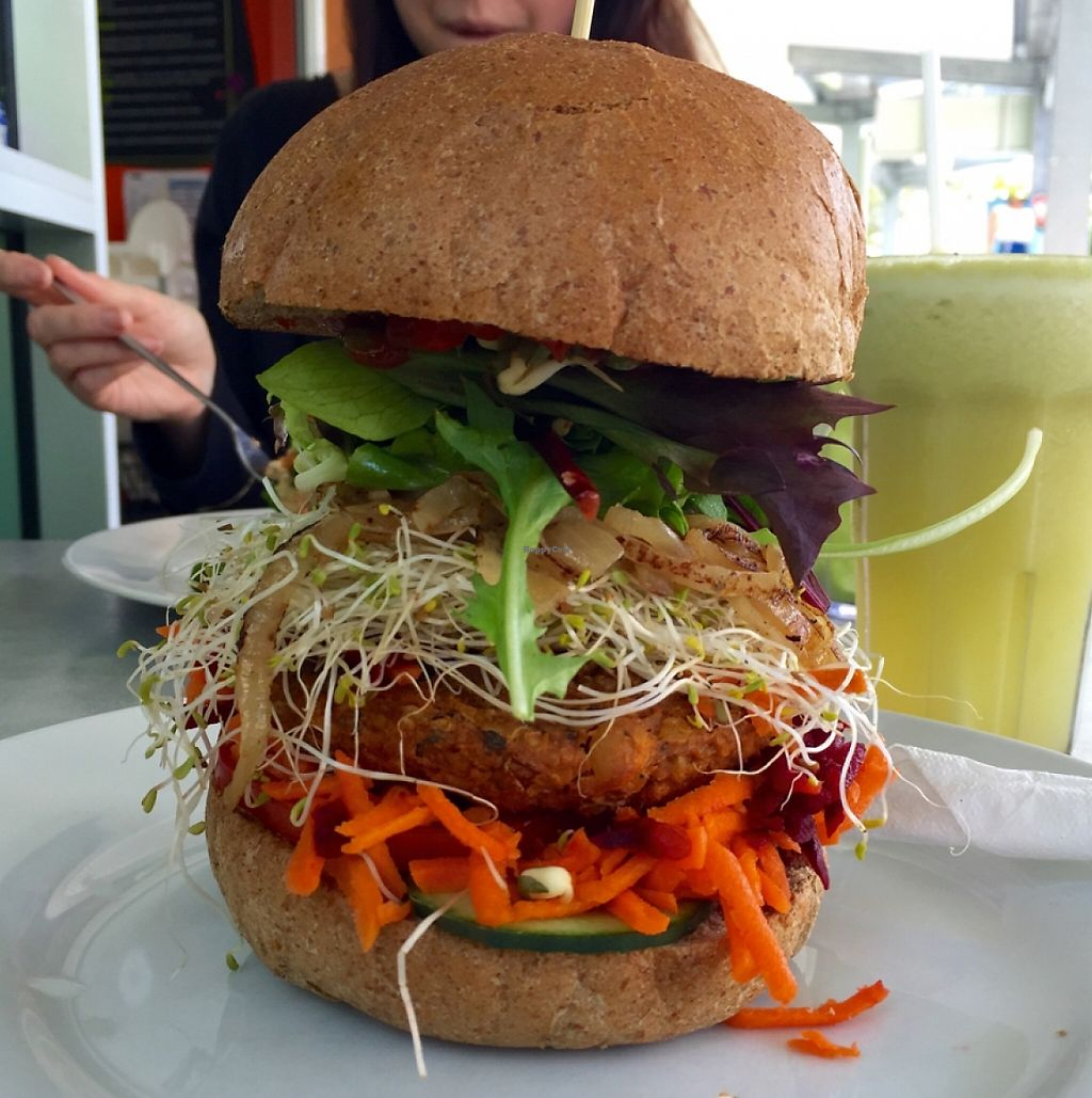 "Photo of Raw Energy - Noosaville  by <a href=""/members/profile/jamesRPM"">jamesRPM</a> <br/>Lentle Burger - Vegan..! <br/> September 13, 2015  - <a href='/contact/abuse/image/26318/254735'>Report</a>"