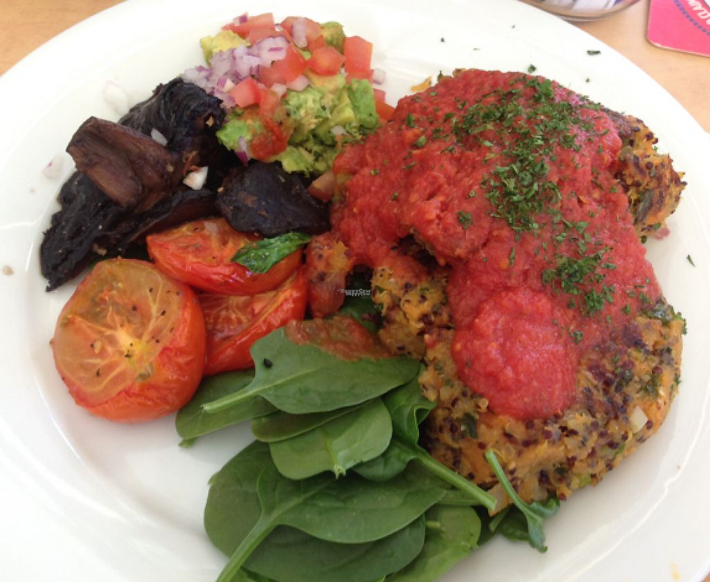 "Photo of Raw Energy - Coolum  by <a href=""/members/profile/ChloeCherry"">ChloeCherry</a> <br/>vegan breakfast with quinoa frittata, roast tomato, fresh Guacamole, spinach and mushrooms with a tomato relish! <br/> October 4, 2016  - <a href='/contact/abuse/image/26319/254691'>Report</a>"