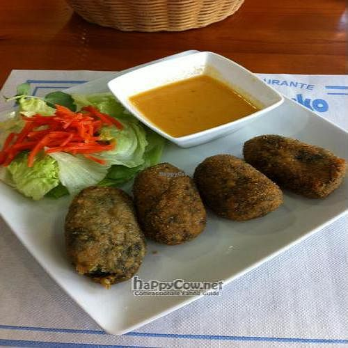 """Photo of Larraisko  by <a href=""""/members/profile/Nihacc"""">Nihacc</a> <br/>Millet croquettes with 'mojo picon' sauce <br/> April 13, 2011  - <a href='/contact/abuse/image/26330/8176'>Report</a>"""