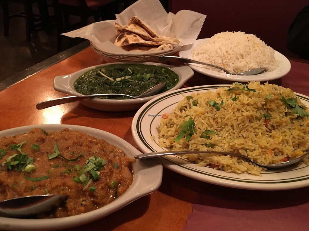 """Photo of Saffron  by <a href=""""/members/profile/JillFulbrightGray"""">JillFulbrightGray</a> <br/>Wonderful food with amazing flavors. The Channa Palak Baingan Bhartha <br/> February 19, 2018  - <a href='/contact/abuse/image/26336/361108'>Report</a>"""