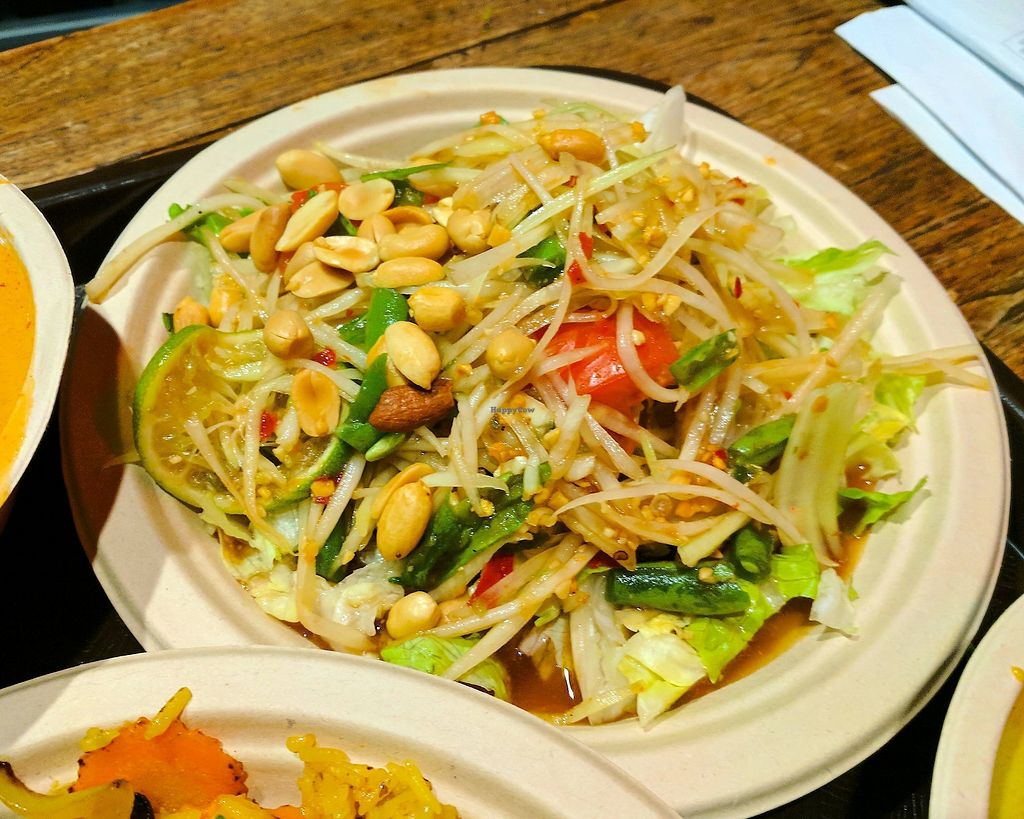 "Photo of Thai Vegan  by <a href=""/members/profile/zenmaestro"">zenmaestro</a> <br/>green papaya salad <br/> November 23, 2017  - <a href='/contact/abuse/image/26369/328299'>Report</a>"