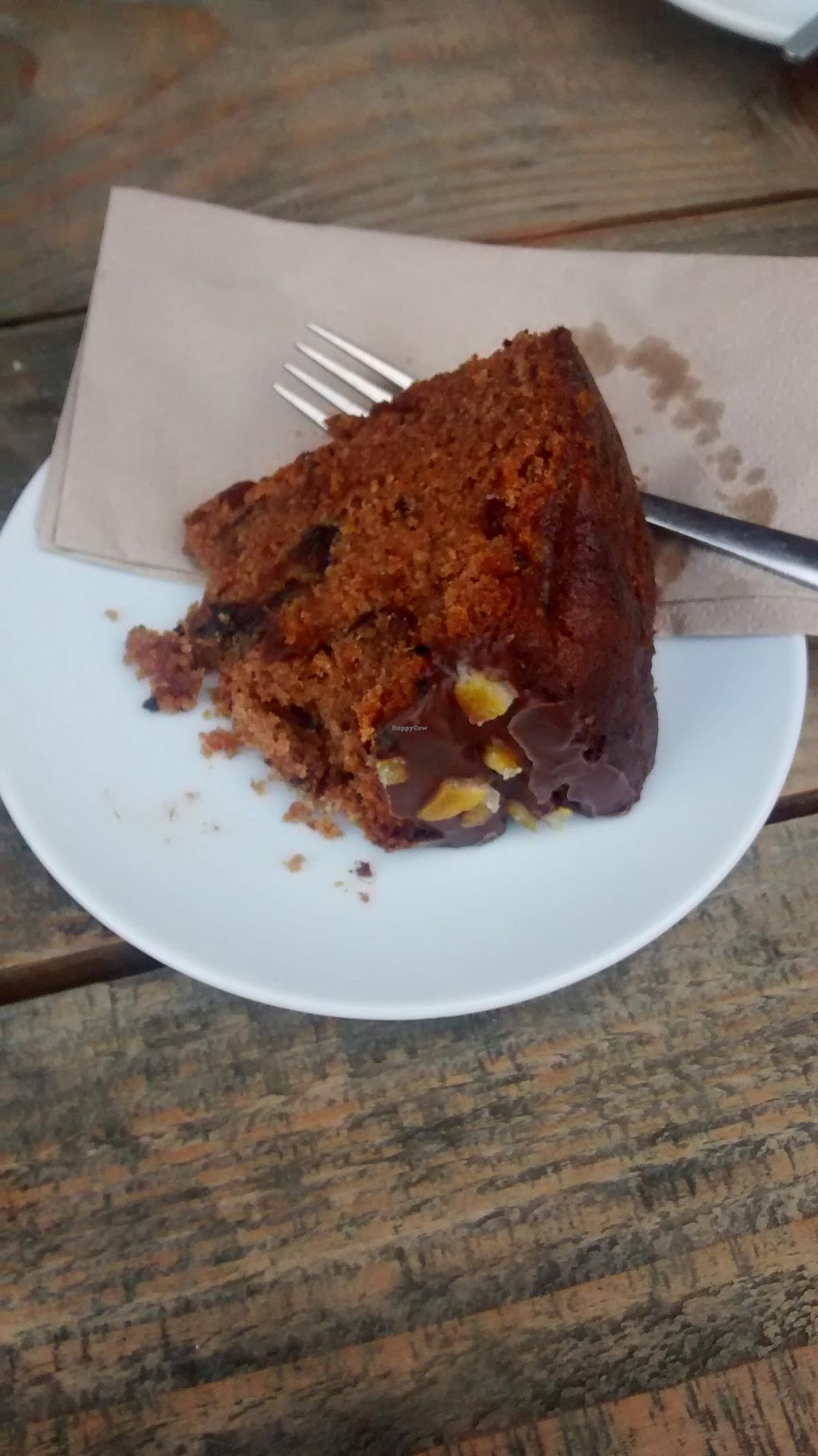 """Photo of Pillars of Hercules Organic Farm Shop and Cafe  by <a href=""""/members/profile/craigmc"""">craigmc</a> <br/>Spicy vegan orange cake <br/> April 7, 2015  - <a href='/contact/abuse/image/26387/98190'>Report</a>"""