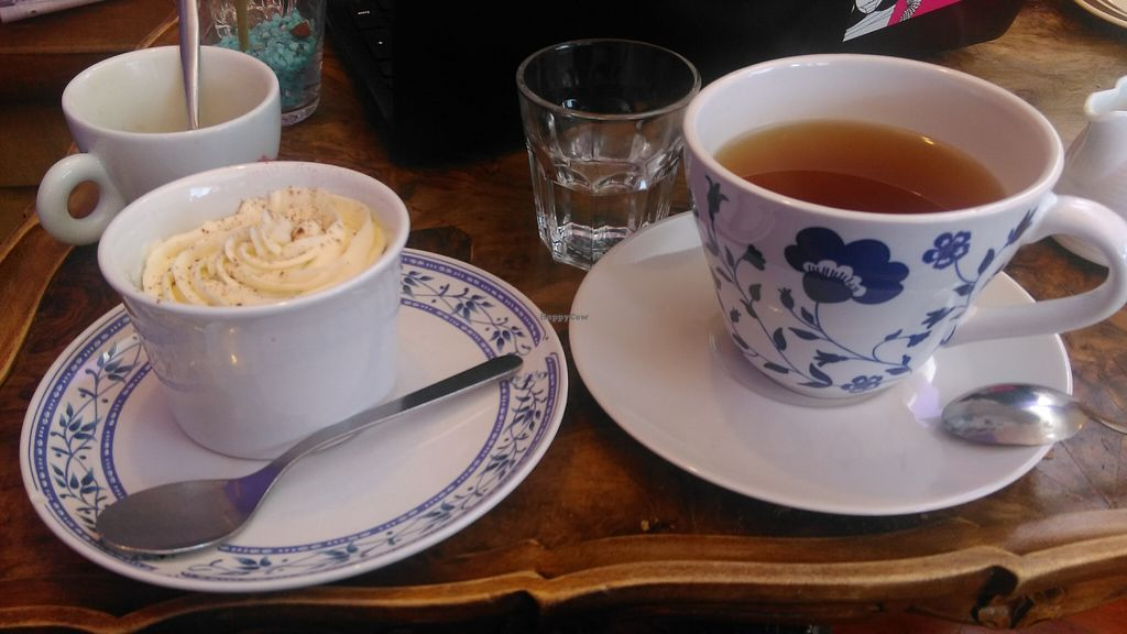 """Photo of C is for Cookie  by <a href=""""/members/profile/AuntyJules"""">AuntyJules</a> <br/>Carrot cake on th left, organic green tea on the right, citrus infused water in the middle (free of charge btw) <br/> July 12, 2016  - <a href='/contact/abuse/image/26399/159424'>Report</a>"""