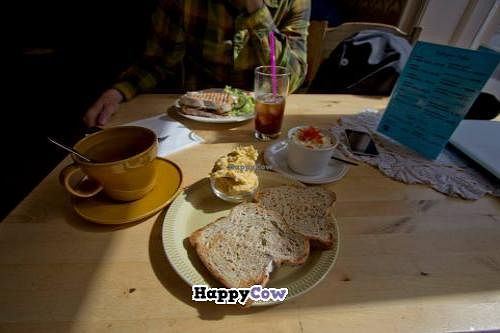 """Photo of C is for Cookie  by <a href=""""/members/profile/Meggie%20and%20Ben"""">Meggie and Ben</a> <br/>Hummus toast and tea <br/> July 21, 2013  - <a href='/contact/abuse/image/26399/51855'>Report</a>"""