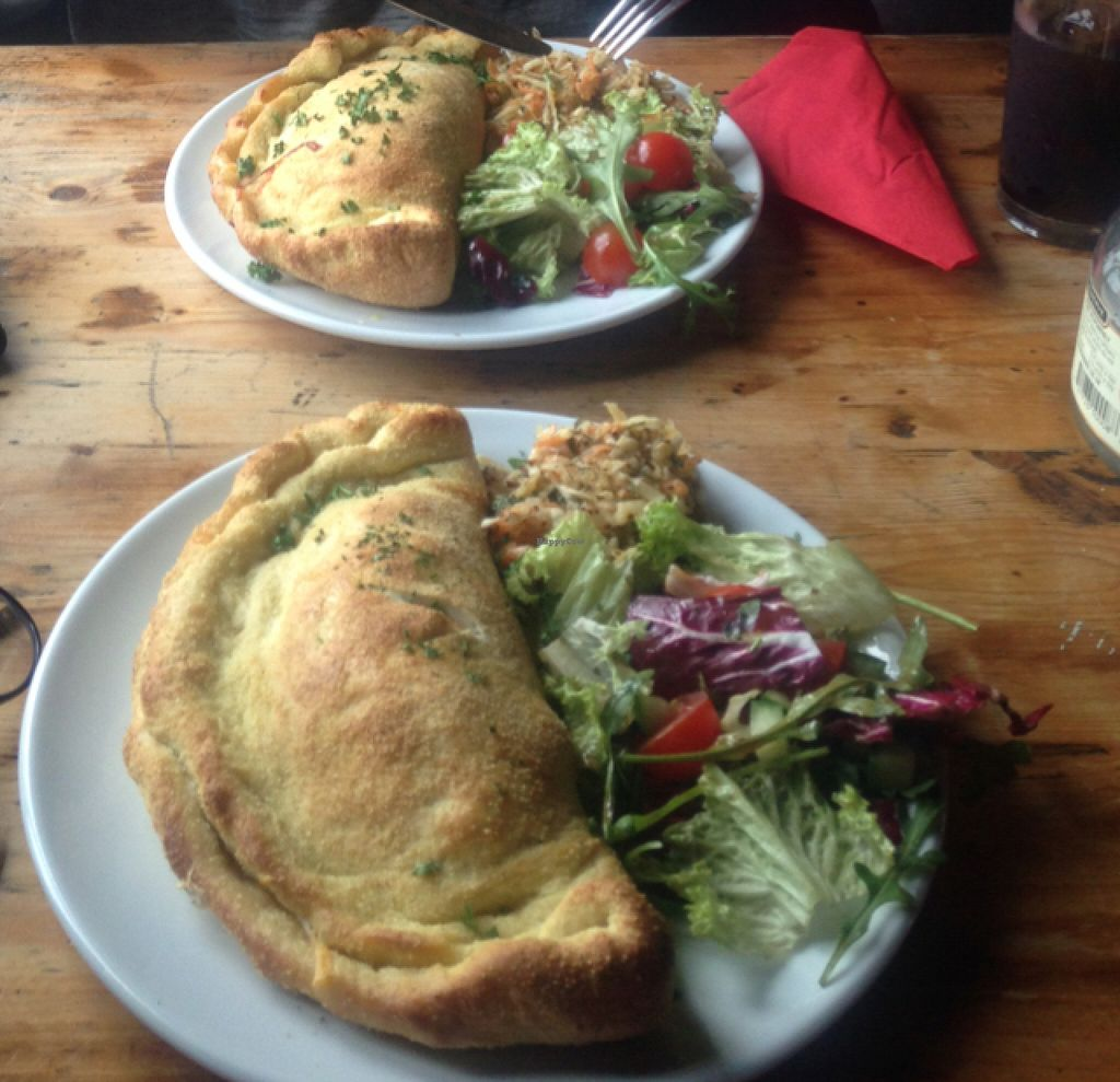"""Photo of The Railway Hotel  by <a href=""""/members/profile/Cjlelliott"""">Cjlelliott</a> <br/>two vegan calzone <br/> July 3, 2016  - <a href='/contact/abuse/image/26414/157615'>Report</a>"""