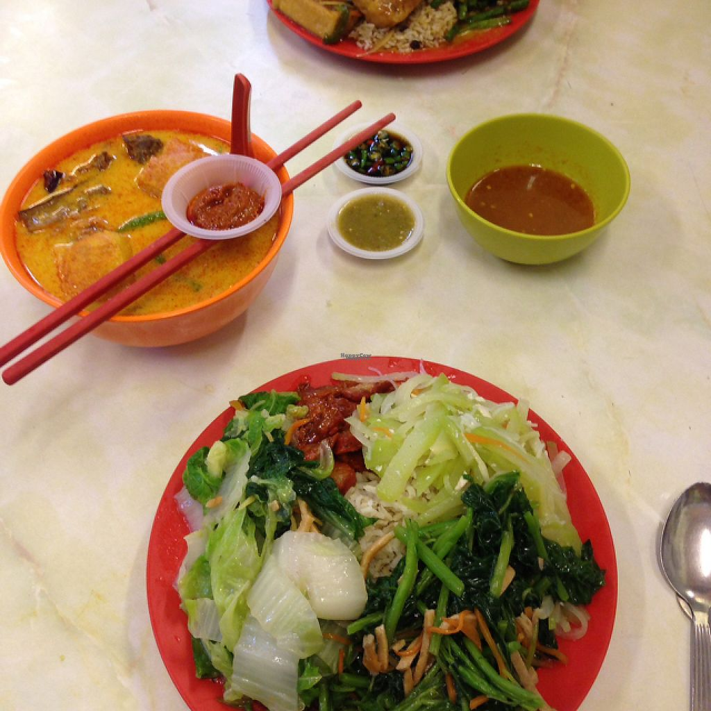 """Photo of Sweet Veggie  by <a href=""""/members/profile/Tofulicious"""">Tofulicious</a> <br/>buffet dishes with curry mee <br/> February 20, 2017  - <a href='/contact/abuse/image/26418/228558'>Report</a>"""
