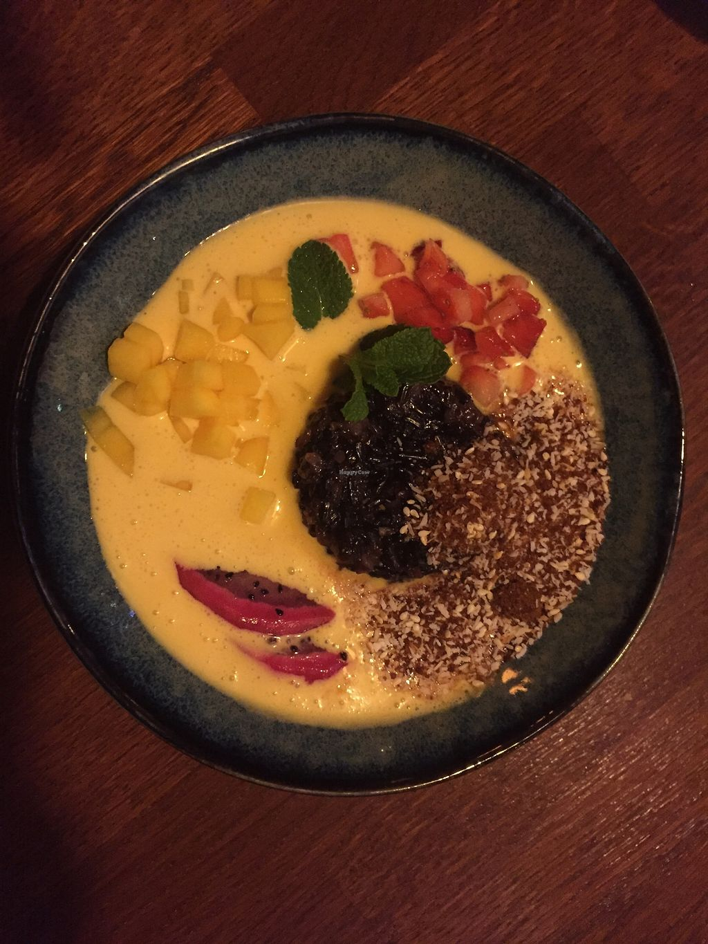 """Photo of Jasmijn en Ik  by <a href=""""/members/profile/Emanuelle"""">Emanuelle</a> <br/>Vegan desert with sticky rice, coconut and mango yum! <br/> March 8, 2018  - <a href='/contact/abuse/image/26447/368279'>Report</a>"""