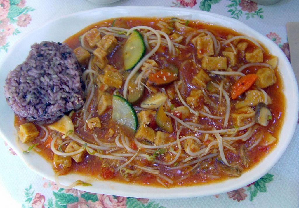 """Photo of CLOSED: Loving Hut Thien Dang  by <a href=""""/members/profile/Gally"""">Gally</a> <br/>Tofu and veggies in tomato sauce, very filling <br/> July 19, 2015  - <a href='/contact/abuse/image/26462/109988'>Report</a>"""