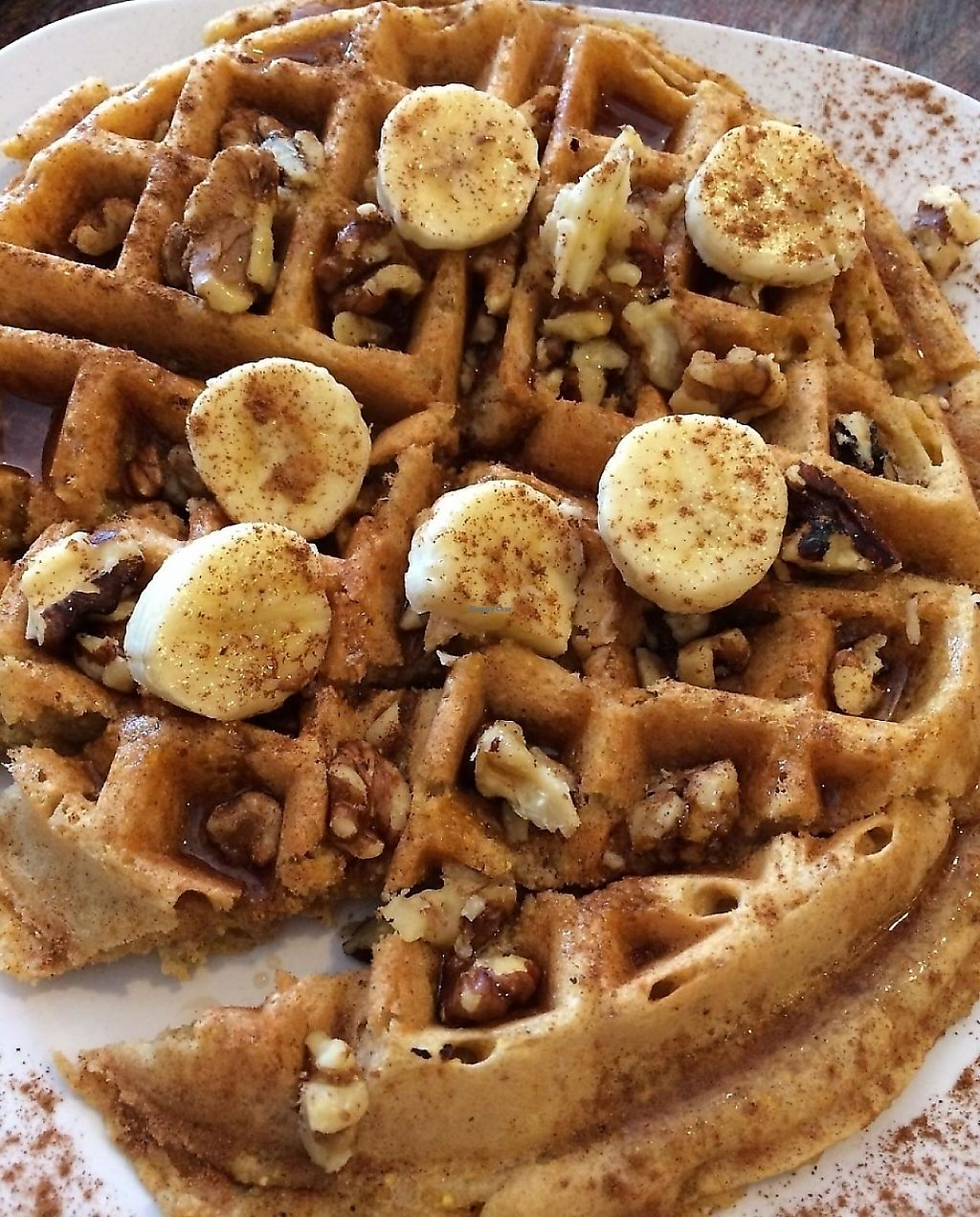 """Photo of PuraVegan  by <a href=""""/members/profile/luvs2EAT"""">luvs2EAT</a> <br/>Tried the Vegan Waffle for breakfast. Oh my! <br/> May 8, 2014  - <a href='/contact/abuse/image/26482/217572'>Report</a>"""