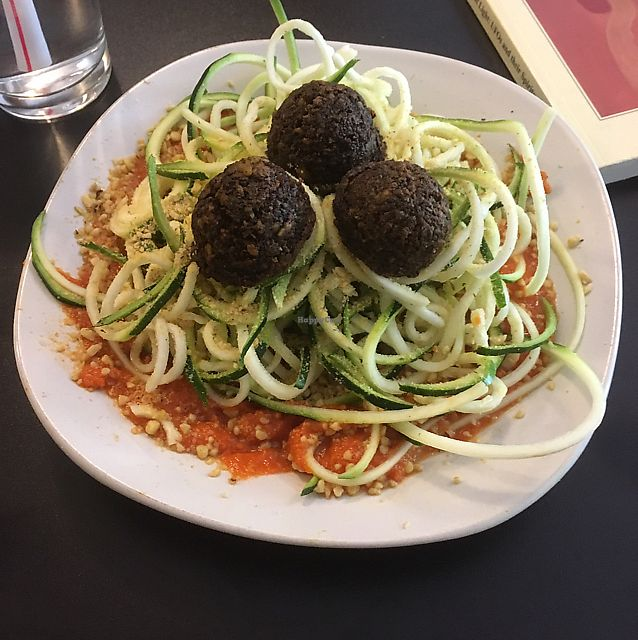"""Photo of PuraVegan  by <a href=""""/members/profile/Wolf-LoverMarie"""">Wolf-LoverMarie</a> <br/>raw spaghetti and meatballs  <br/> June 24, 2017  - <a href='/contact/abuse/image/26482/273083'>Report</a>"""