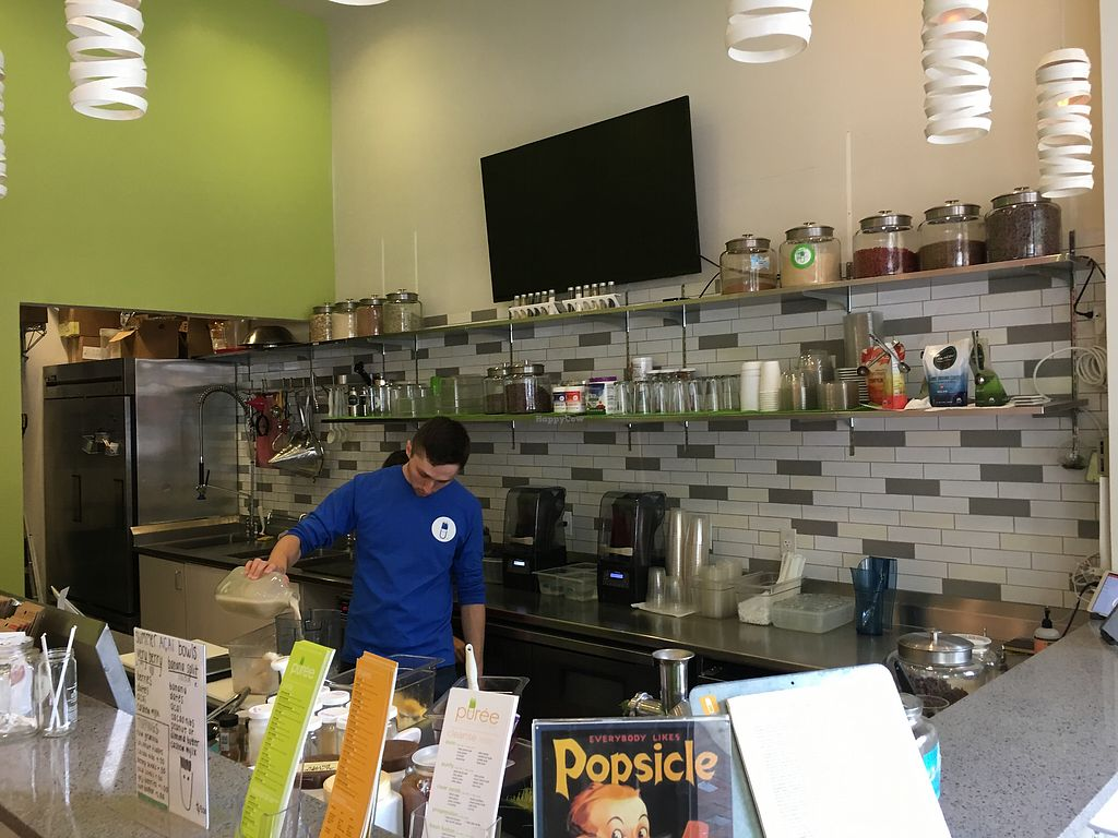 "Photo of Puree Juice Bar  by <a href=""/members/profile/daroff"">daroff</a> <br/>counter <br/> July 3, 2017  - <a href='/contact/abuse/image/26493/276439'>Report</a>"