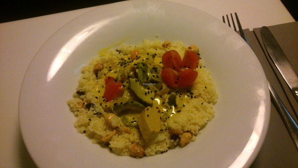 """Photo of Copenhagen  by <a href=""""/members/profile/angelasabine"""">angelasabine</a> <br/>Curry con vegetal 'chicken', 7 Euros <br/> January 20, 2014  - <a href='/contact/abuse/image/26500/62802'>Report</a>"""