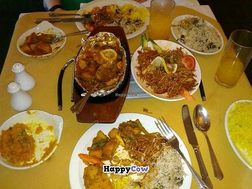 """Photo of Gurkha Chef  by <a href=""""/members/profile/SplashWellyKid"""">SplashWellyKid</a> <br/>All day Sunday Special £10.95 (2 x starters - not shown; 2 x main courses; 2 x side dishes; 2 x rice or bread) <br/> August 10, 2013  - <a href='/contact/abuse/image/26537/53044'>Report</a>"""
