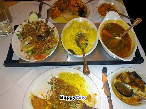 """Photo of Gurkha Chef  by <a href=""""/members/profile/SplashWellyKid"""">SplashWellyKid</a> <br/>All day Sunday Special £10.95 (2 x starters - not shown; 2 x main courses; 2 x side dishes; 2 x rice or bread) <br/> August 10, 2013  - <a href='/contact/abuse/image/26537/53045'>Report</a>"""