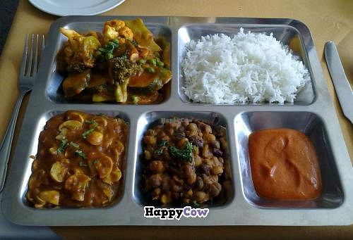 """Photo of Gurkha Chef  by <a href=""""/members/profile/SplashWellyKid"""">SplashWellyKid</a> <br/>Lunchtime vegan thali.   NB Previous Sunday Special pics are £10.95 per head - still a great deal, as tons of food to eat <br/> August 31, 2013  - <a href='/contact/abuse/image/26537/54097'>Report</a>"""