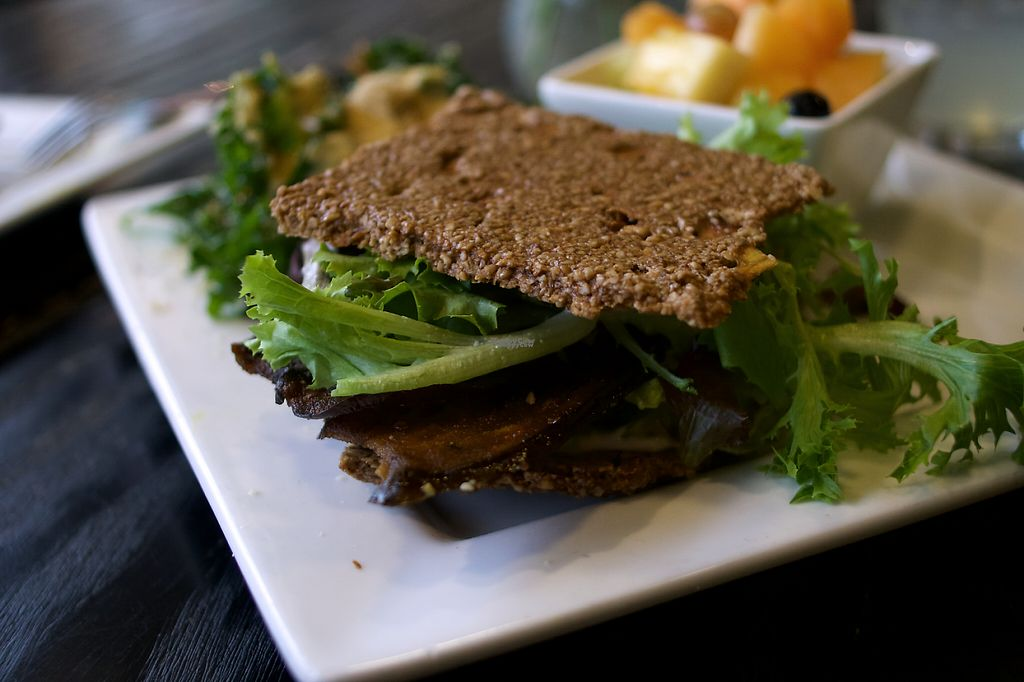 """Photo of Good Life Cafe  by <a href=""""/members/profile/cbquispe"""">cbquispe</a> <br/>Eggplant Bacon Sandwich. Photo taken by cbquispe.com <br/> December 7, 2016  - <a href='/contact/abuse/image/26543/197973'>Report</a>"""