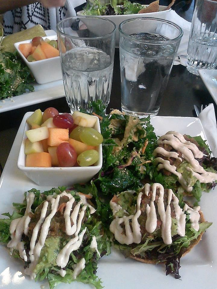 """Photo of Good Life Cafe  by <a href=""""/members/profile/AntwanFoster"""">AntwanFoster</a> <br/>Raw vegan tacos. :) <br/> August 1, 2017  - <a href='/contact/abuse/image/26543/287513'>Report</a>"""
