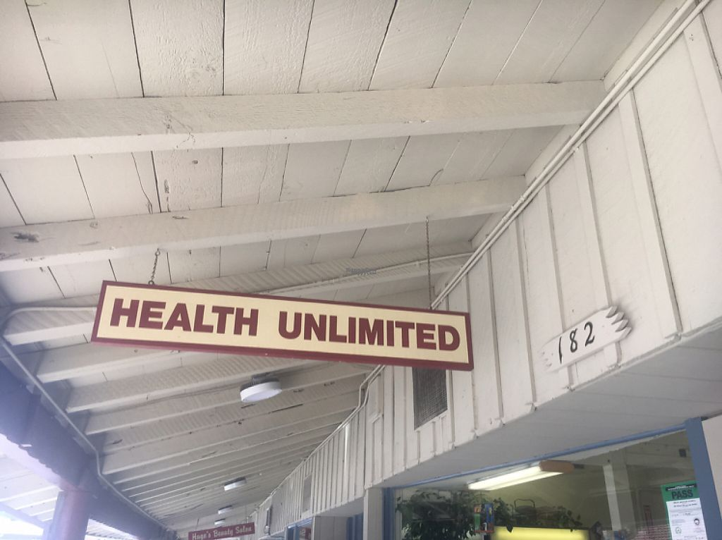 """Photo of Health Unlimited -  Pelton Center Way  by <a href=""""/members/profile/Zombiecynthia"""">Zombiecynthia</a> <br/>outside store sign  <br/> April 1, 2017  - <a href='/contact/abuse/image/26551/243200'>Report</a>"""