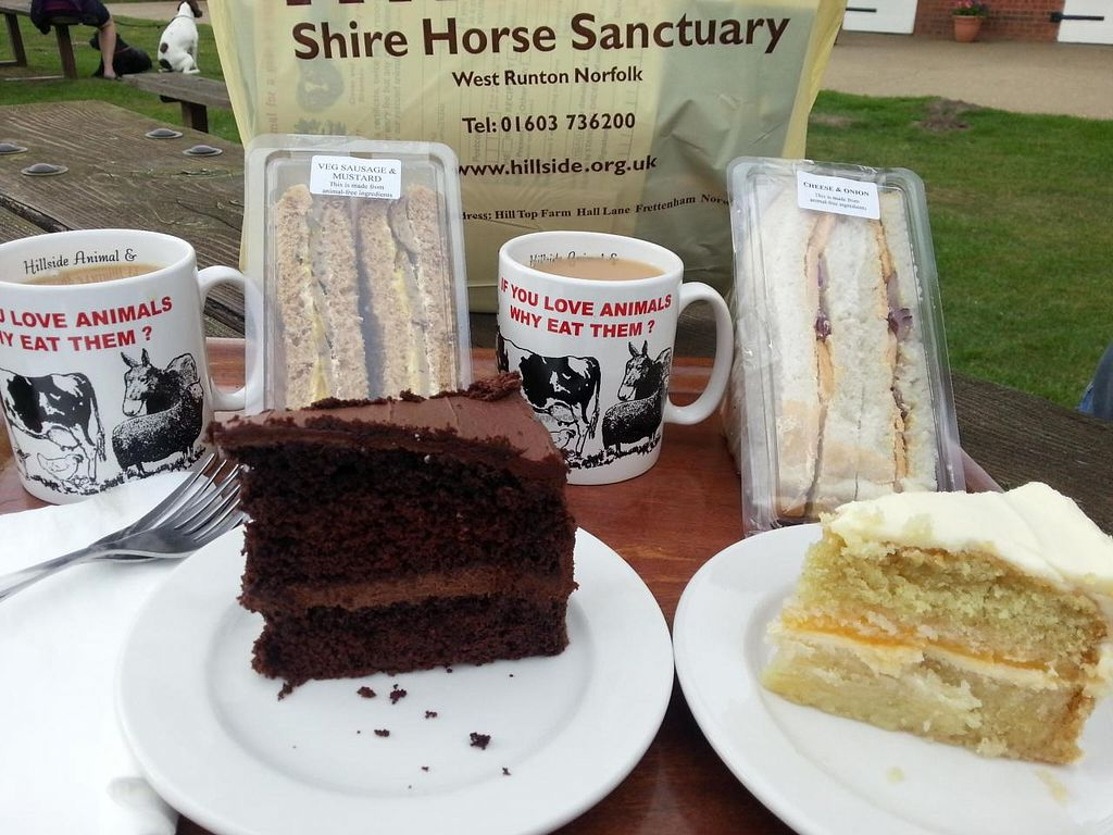 "Photo of Hillside Shire Horse Sanctuary Cafe  by <a href=""/members/profile/Miggi"">Miggi</a> <br/>sandwiches and cakes <br/> October 1, 2014  - <a href='/contact/abuse/image/26581/81801'>Report</a>"