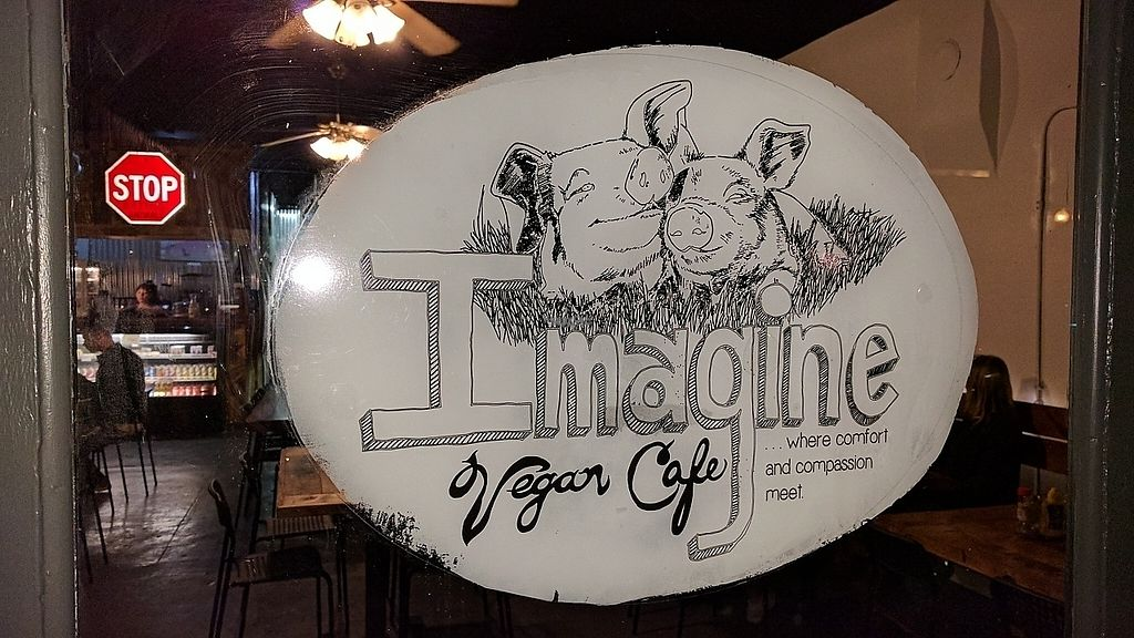 """Photo of Imagine Vegan Cafe  by <a href=""""/members/profile/ChelonianRacer"""">ChelonianRacer</a> <br/>Front door <br/> March 18, 2017  - <a href='/contact/abuse/image/26621/237686'>Report</a>"""