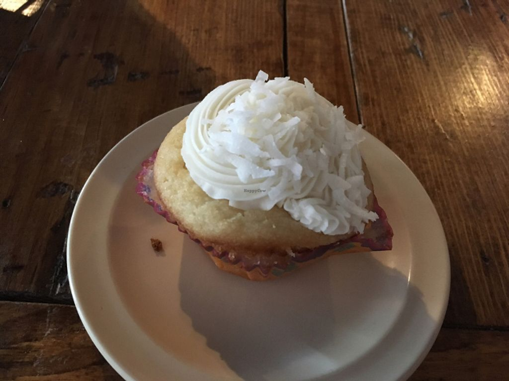 """Photo of Imagine Vegan Cafe  by <a href=""""/members/profile/monisonfire"""">monisonfire</a> <br/>coconut cupcake <br/> May 7, 2017  - <a href='/contact/abuse/image/26621/256578'>Report</a>"""