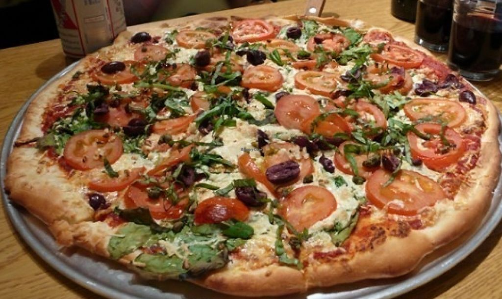 """Photo of Purgatory Pizza  by <a href=""""/members/profile/quarrygirl"""">quarrygirl</a> <br/>purgatory greek vegan pizza <br/> February 2, 2012  - <a href='/contact/abuse/image/26622/190033'>Report</a>"""
