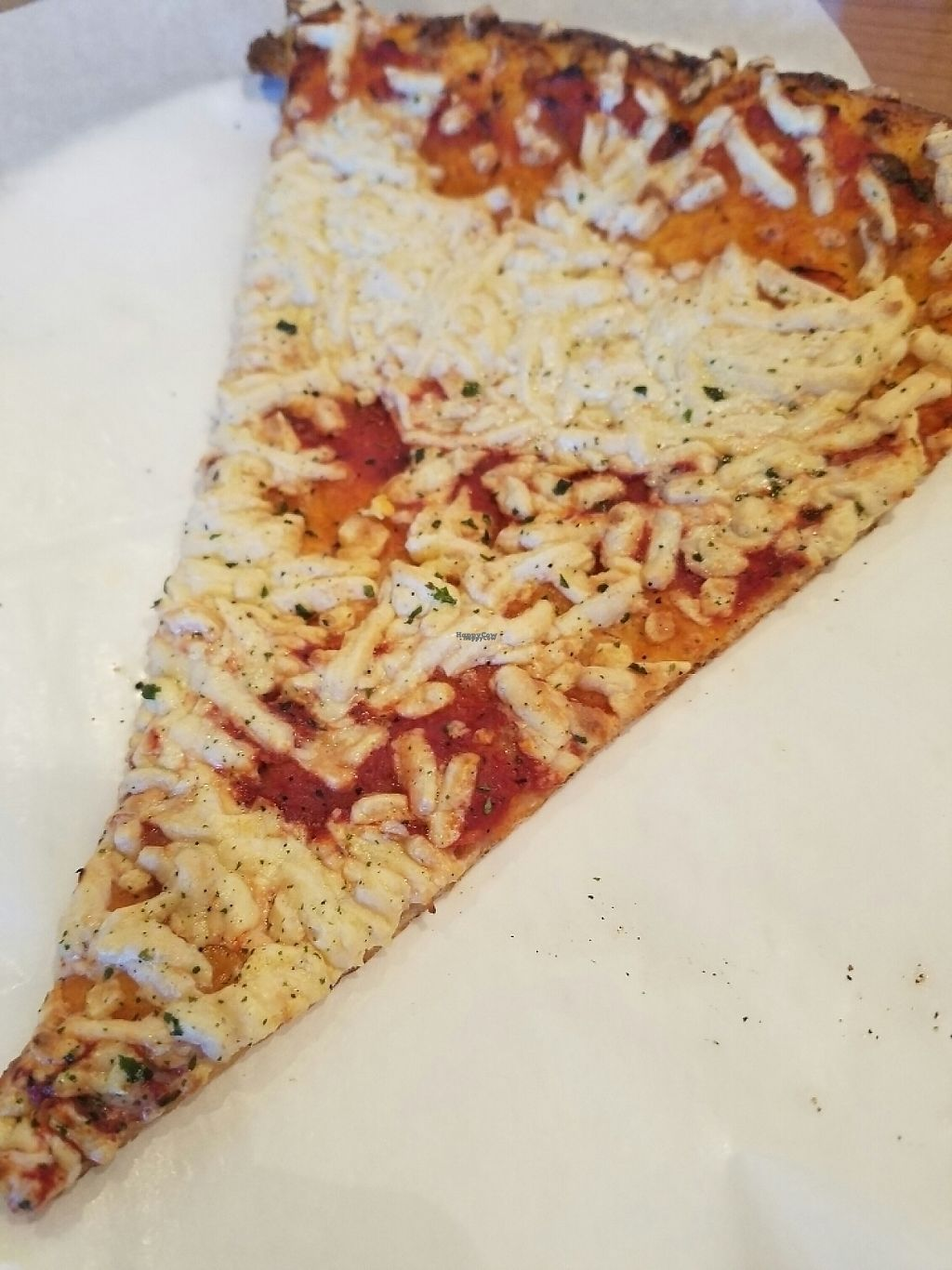 """Photo of Purgatory Pizza  by <a href=""""/members/profile/VictoriaAllison"""">VictoriaAllison</a> <br/>plain vegan Daiya slice, well done, nice and crispy ? <br/> February 23, 2017  - <a href='/contact/abuse/image/26622/229811'>Report</a>"""