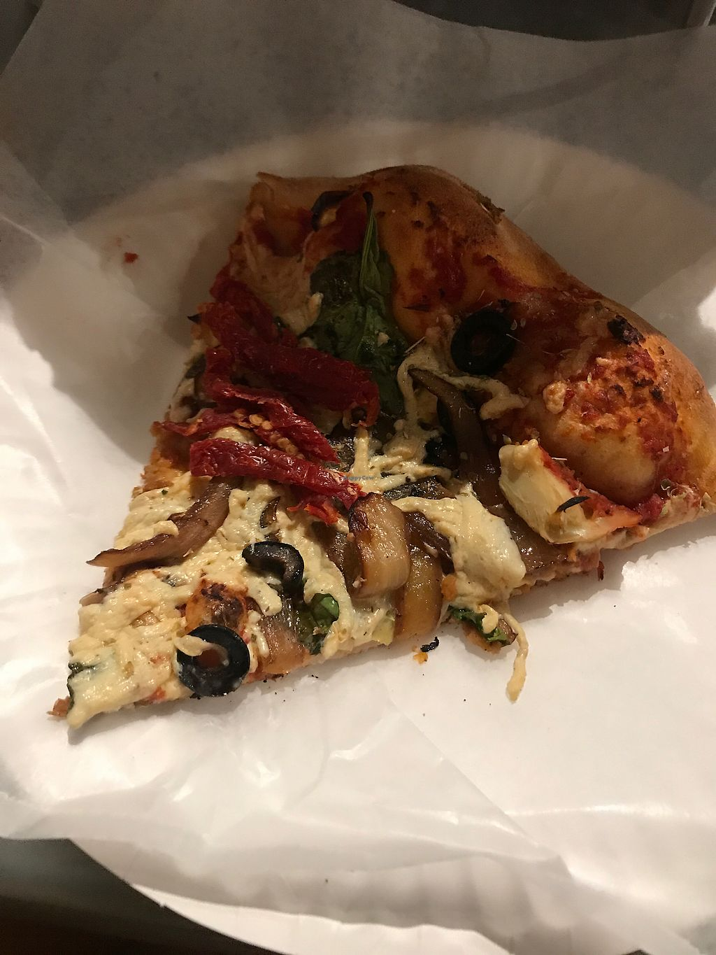 """Photo of Purgatory Pizza  by <a href=""""/members/profile/Vegan_Ness"""">Vegan_Ness</a> <br/>Field of Dreams Pizza Slice <br/> August 28, 2017  - <a href='/contact/abuse/image/26622/298391'>Report</a>"""