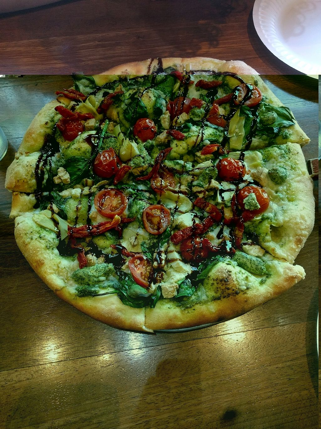 """Photo of Purgatory Pizza  by <a href=""""/members/profile/flocho"""">flocho</a> <br/>vegan and sara pizza! <br/> February 28, 2018  - <a href='/contact/abuse/image/26622/364704'>Report</a>"""