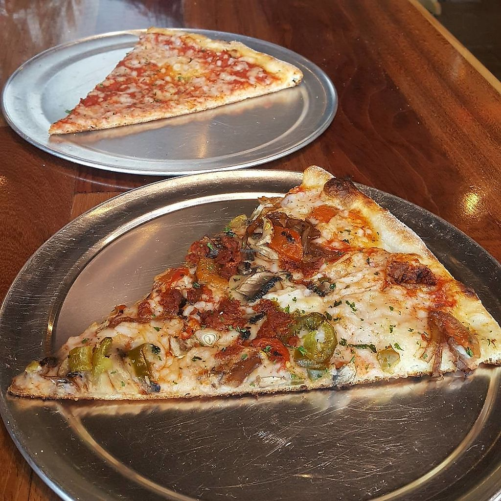 """Photo of Purgatory Pizza  by <a href=""""/members/profile/sarahssoares"""">sarahssoares</a> <br/>Vegan pizza <br/> May 3, 2018  - <a href='/contact/abuse/image/26622/394472'>Report</a>"""