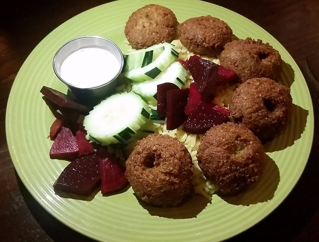 """Photo of Mazah Mediterranean Eatery  by <a href=""""/members/profile/CorissaMarie"""">CorissaMarie</a> <br/>Falafel  <br/> January 24, 2017  - <a href='/contact/abuse/image/26624/216816'>Report</a>"""