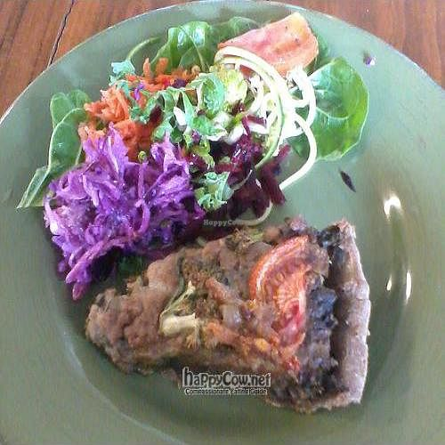 "Photo of CLOSED: The Soul Tree Organic Store and Cafe  by <a href=""/members/profile/cvxmelody"">cvxmelody</a> <br/>Vegan slice (leek, broccoli, spinach, tomato..) & salad <br/> July 13, 2011  - <a href='/contact/abuse/image/26682/9638'>Report</a>"
