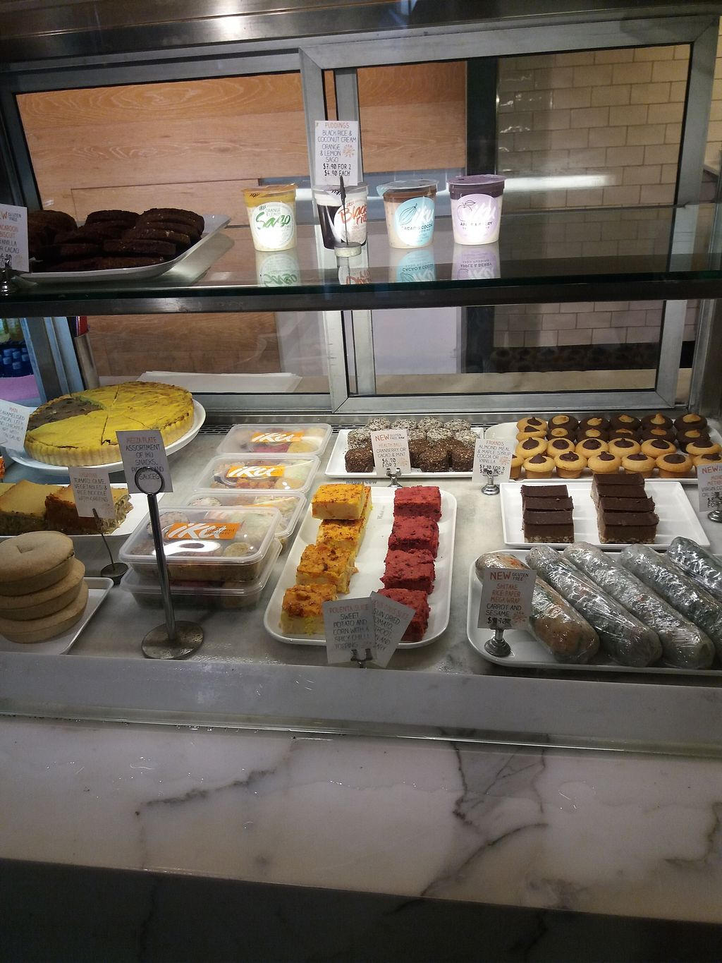 """Photo of Iku Wholefoods Kitchen - Westfield Plaza  by <a href=""""/members/profile/veganvirtues"""">veganvirtues</a> <br/>More delicious goodies <br/> March 12, 2018  - <a href='/contact/abuse/image/26685/369532'>Report</a>"""